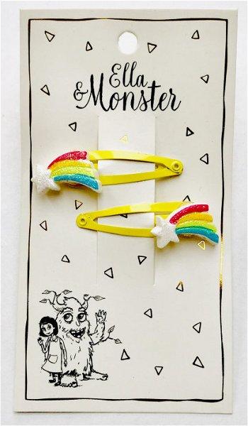 Ella & Monster Colored Star Haarspangen
