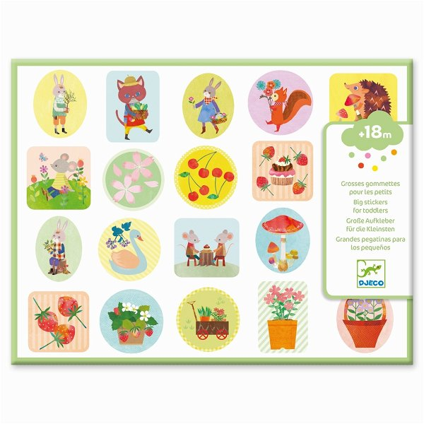 Djeco Sticker - Im Garten