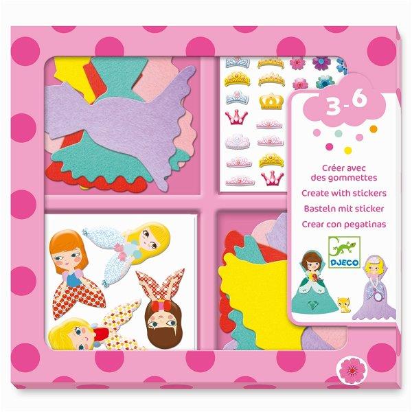 Djeco Sticker - Ich liebe Prinzessinnen