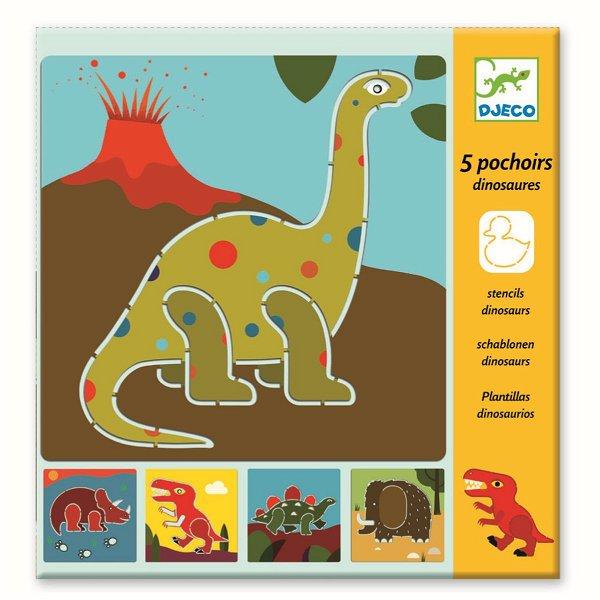 Djeco Schablonen Dinosaurs