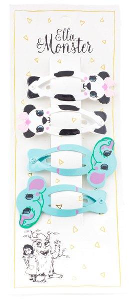 Ella & Monster Panda Set Haarspangen