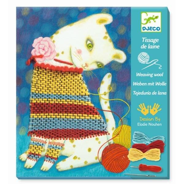 Djeco Wollbilder Kätzchen mit Pullunder