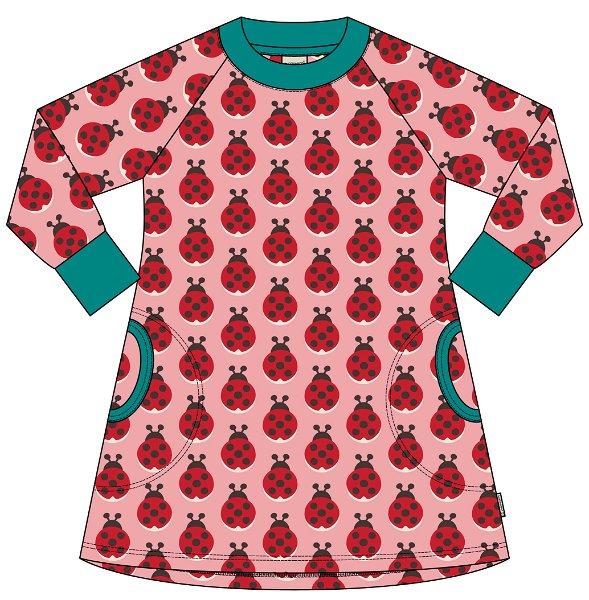 Maxomorra Dress Sweat Ladybug