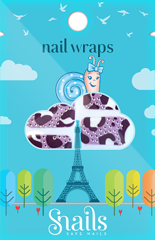 Snails Nail Wrap Purple Zebra