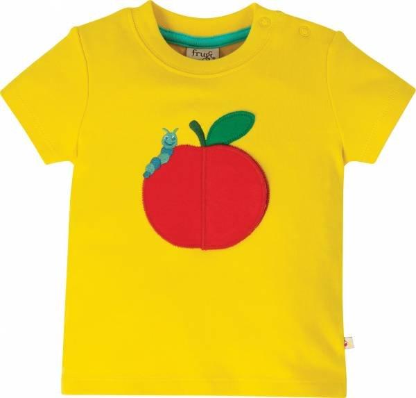Frugi Playdate Tee, Sunflower/Apple