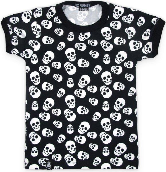 Six Bunnies T-Shirt Polka Skulls