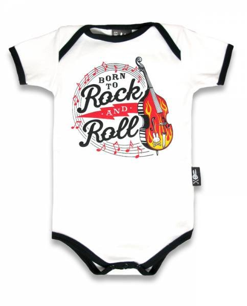 Six Bunnies Baby Body Born To Rock&Roll
