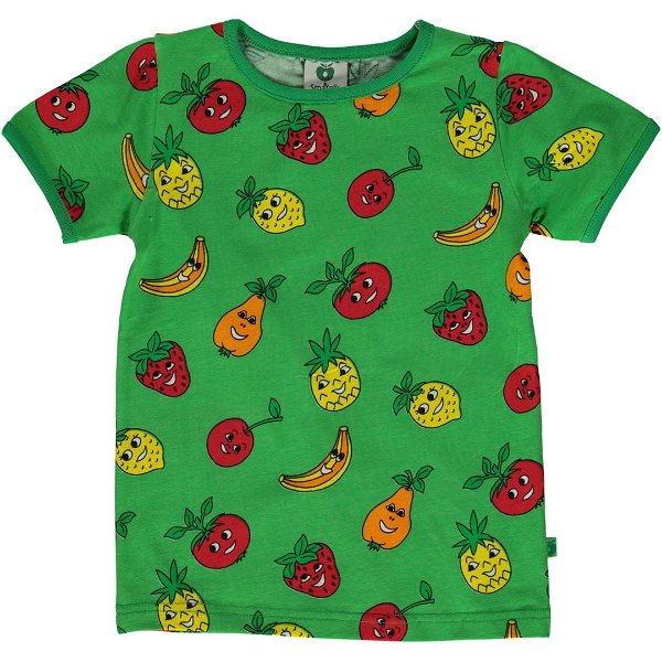 Smafolk T-Shirt with Fruits, Green