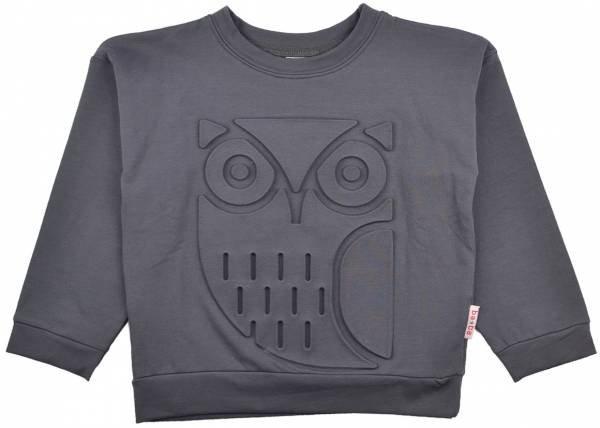Baba Babywear 3D Sweatshirt Owl Dark Grey