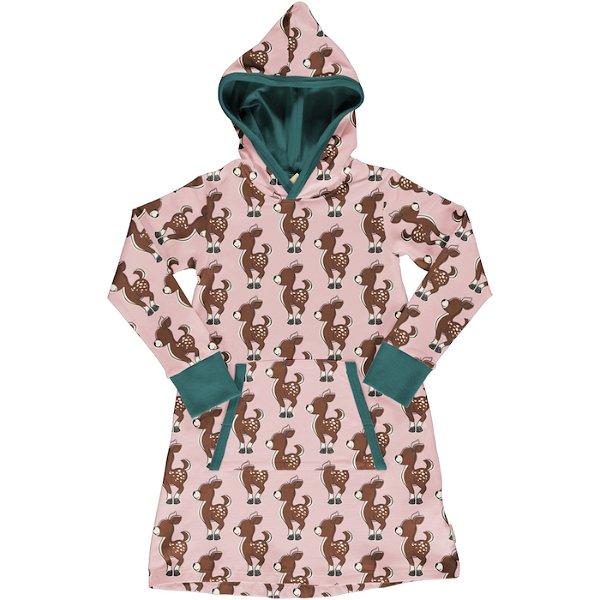 Maxomorra Dress Hoodie Sweat Fawn