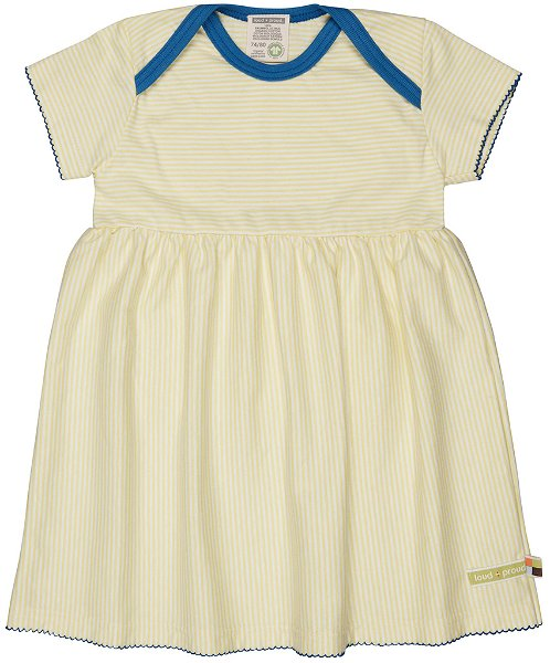 Loud + Proud Kleid Streifen, Lemon