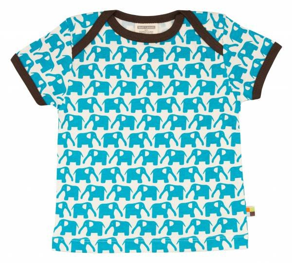 Loud + Proud T-Shirt Elephant Aqua