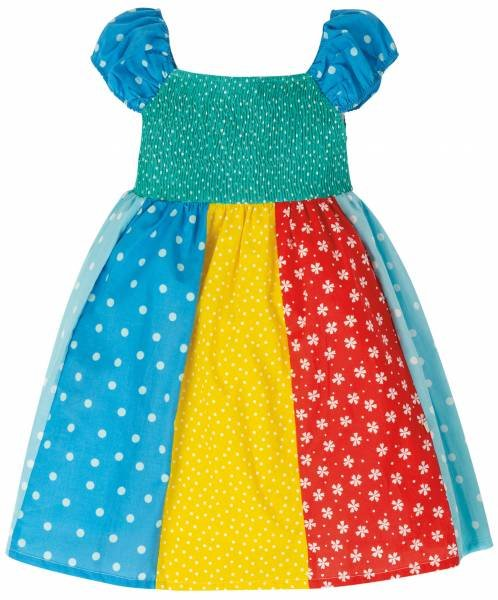Frugi Kiki Hotchpotch Dress Rainbow Hotchpotch