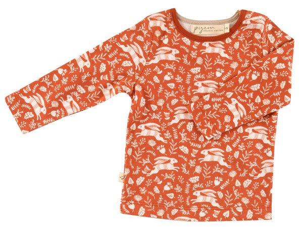 Pigeon Organics T-Shirt LS Hares Orange