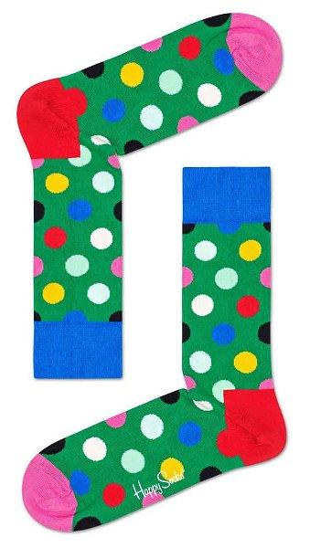 Happy Socks Big Dot Sock Green