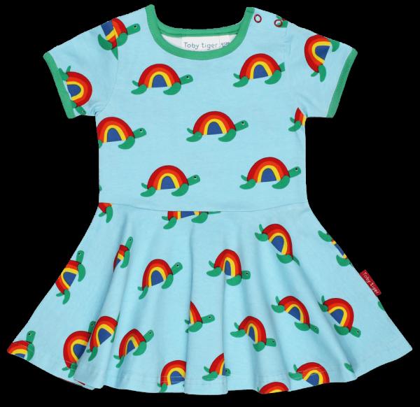 Toby tiger Multi Turtle Print Skater Dress