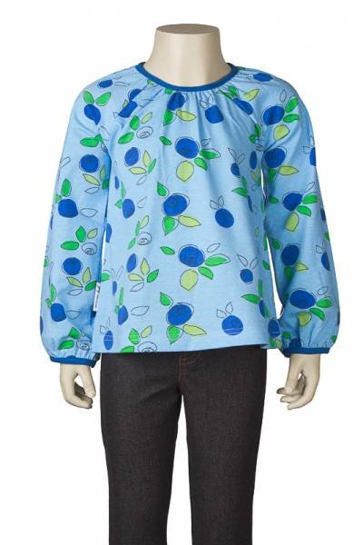 JNY colourful kids Puffy Shirt Blueberry