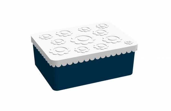 Blafre Lunchbox White / Dark Blue